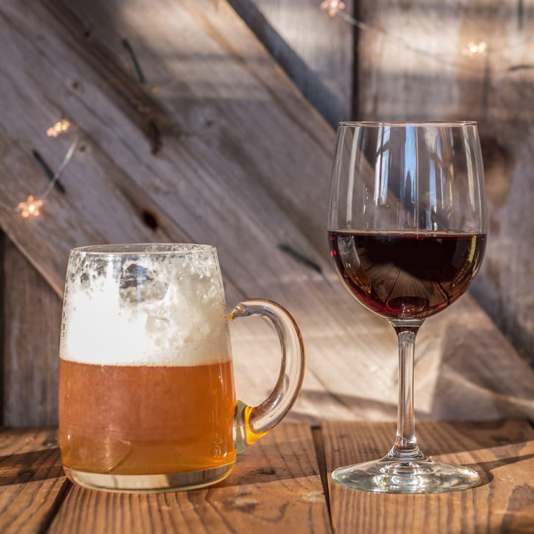 Wein und Bier