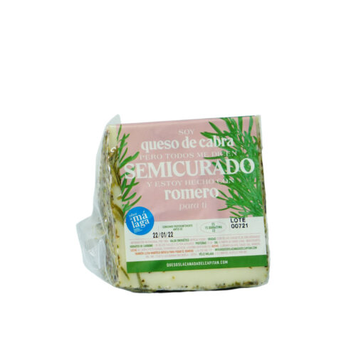 Cheese with rosemary Cuña queso semicurado con romero Málaga Gourmet Experience