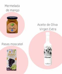 Ingredientes para la vinagreta tropical