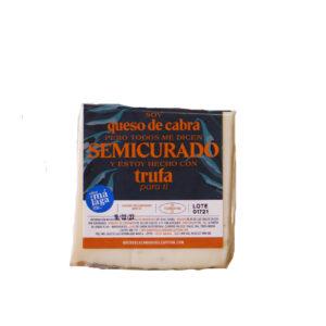 Cuña queso de cabra semi con trufa