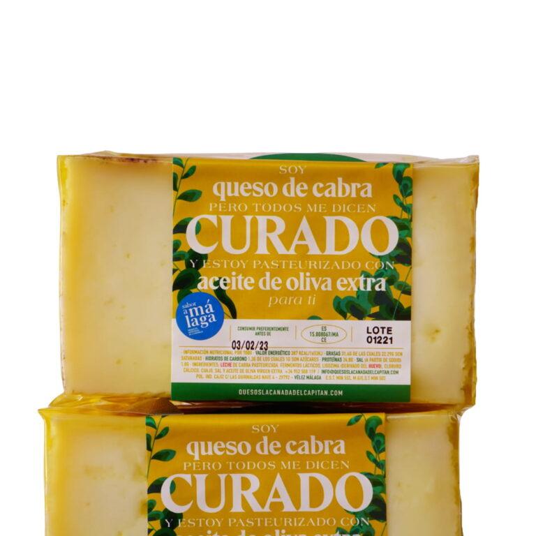 Mitad queso de cabra curado con AOVE