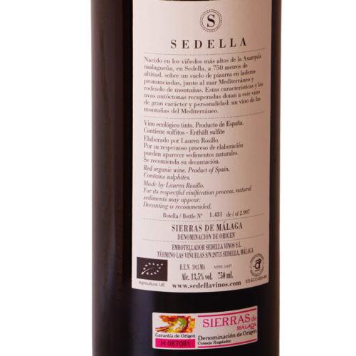 Vin Rouge de Sedella 2017 Axarquía Málaga Gourmet Experience
